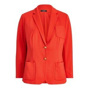 Ralph Lauren Ponte Knit Blazer Sporting Orange 2X